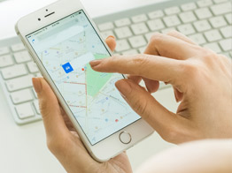 iPhone location map